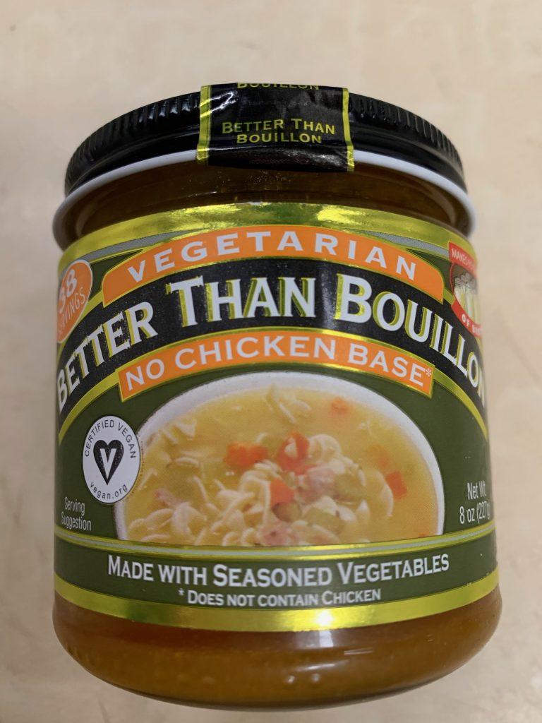 No chicken better than bouillon vegan broth base