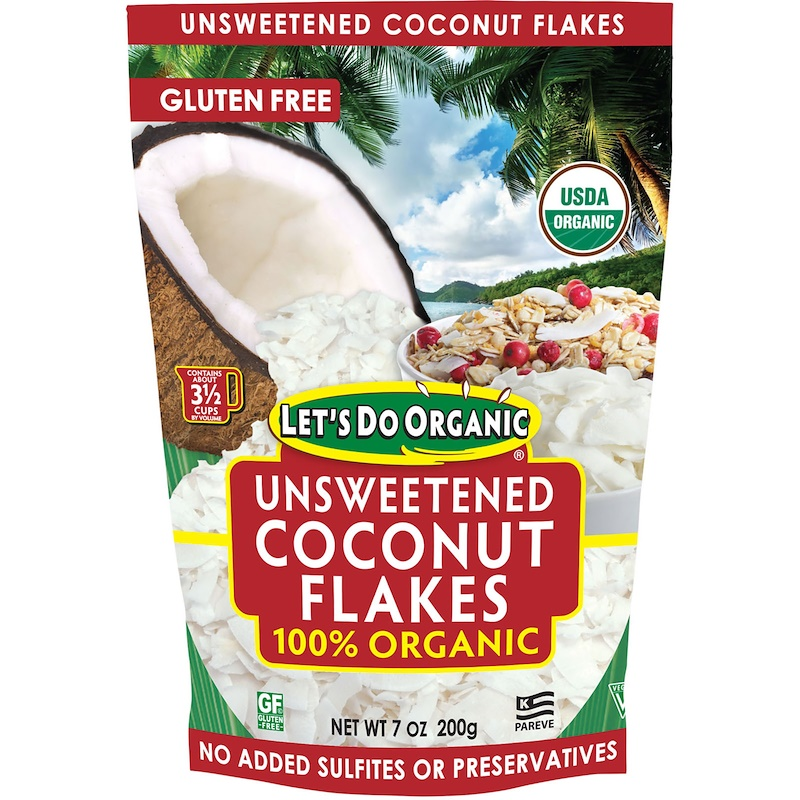 Slightly thicker bigger coconut flakes from Amazon and Whole Foods.