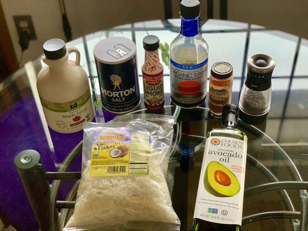 Ingredients for Addictive Coconut Bacon Flakes
