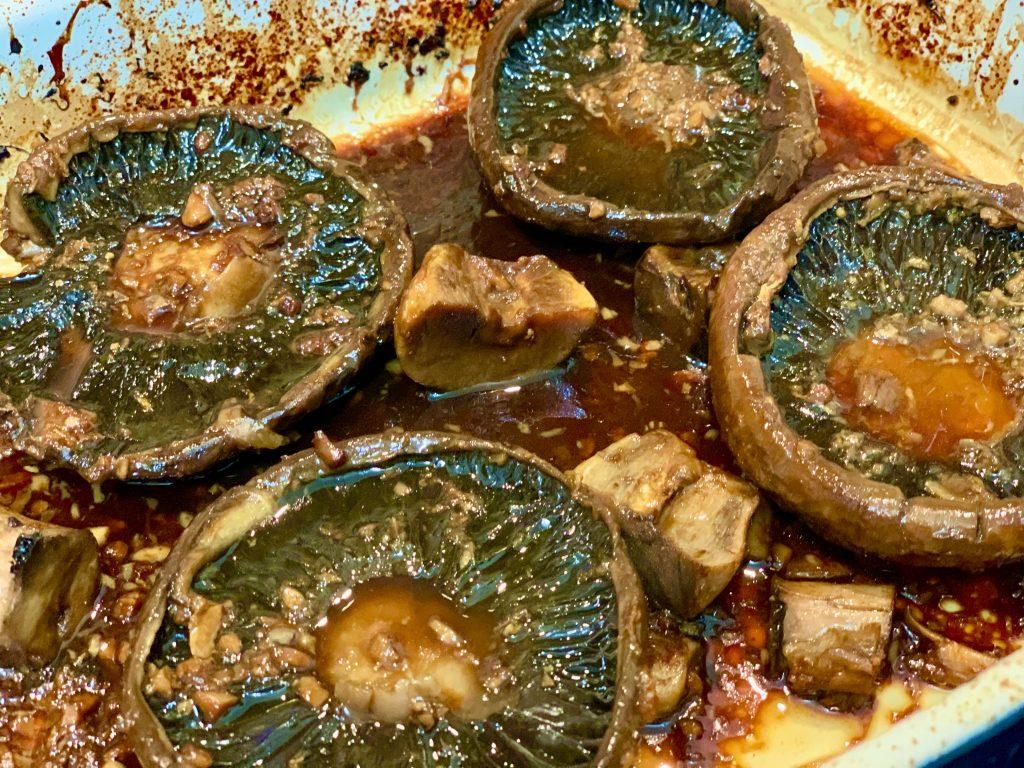 Close-up of the Marinated Oven-Roasted Portobellos