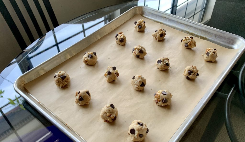 Ready to bake High-Altitude Vegan Nestlé Toll House style Chocolate Chip Cookies