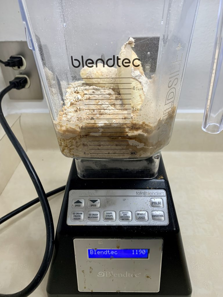 Ready to blend the batter for Easy Cakes (Minimalist Gluten-Free Vegan Protein Pancakes)