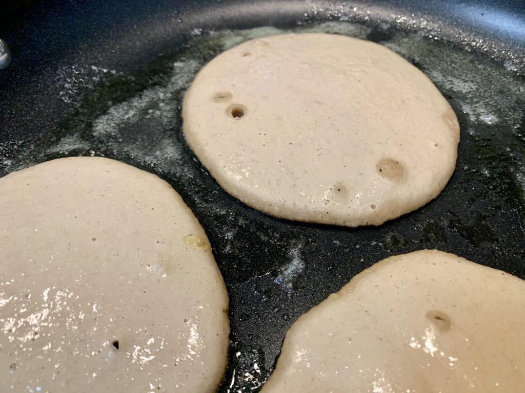 Pancake batter becoming pancakes