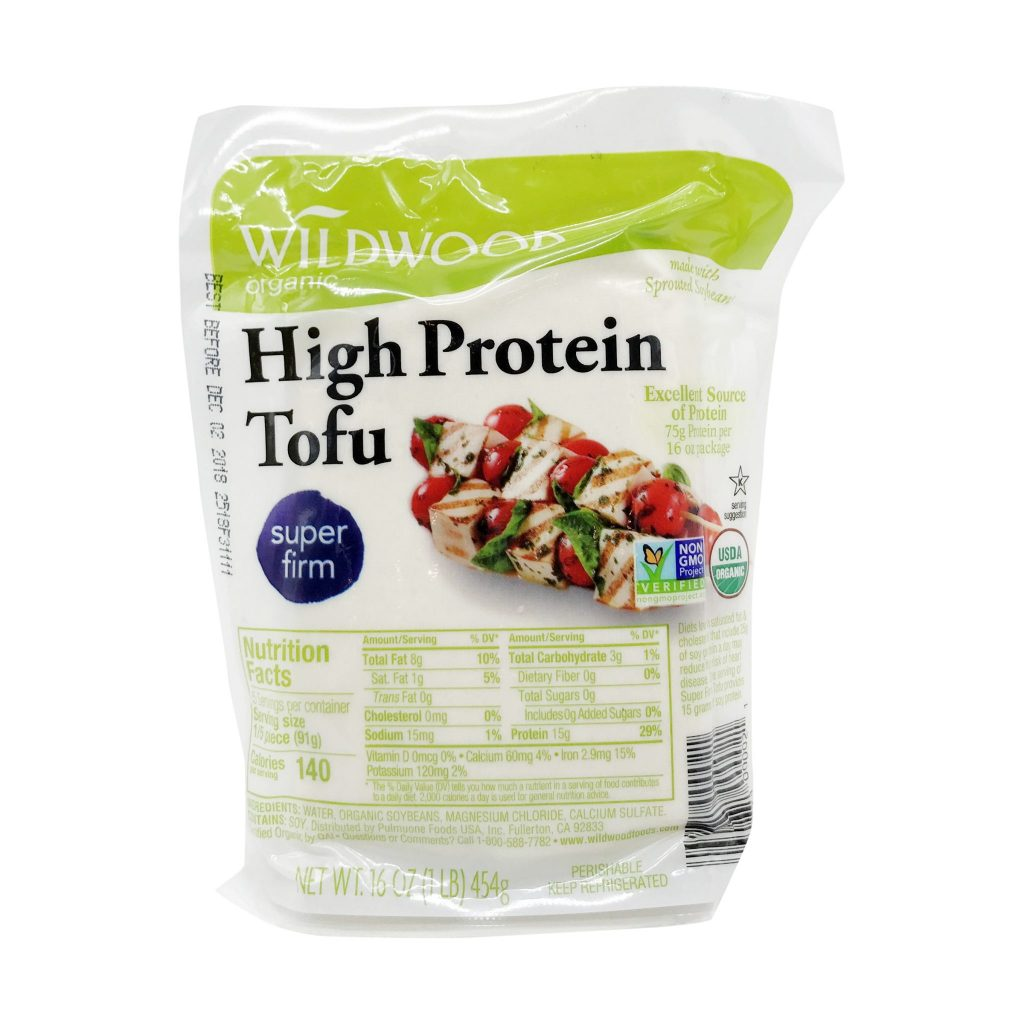 "Vac-u-packed, All-American ""Super Firm High Protein Tofu"" seriously, you don't even have to press it."