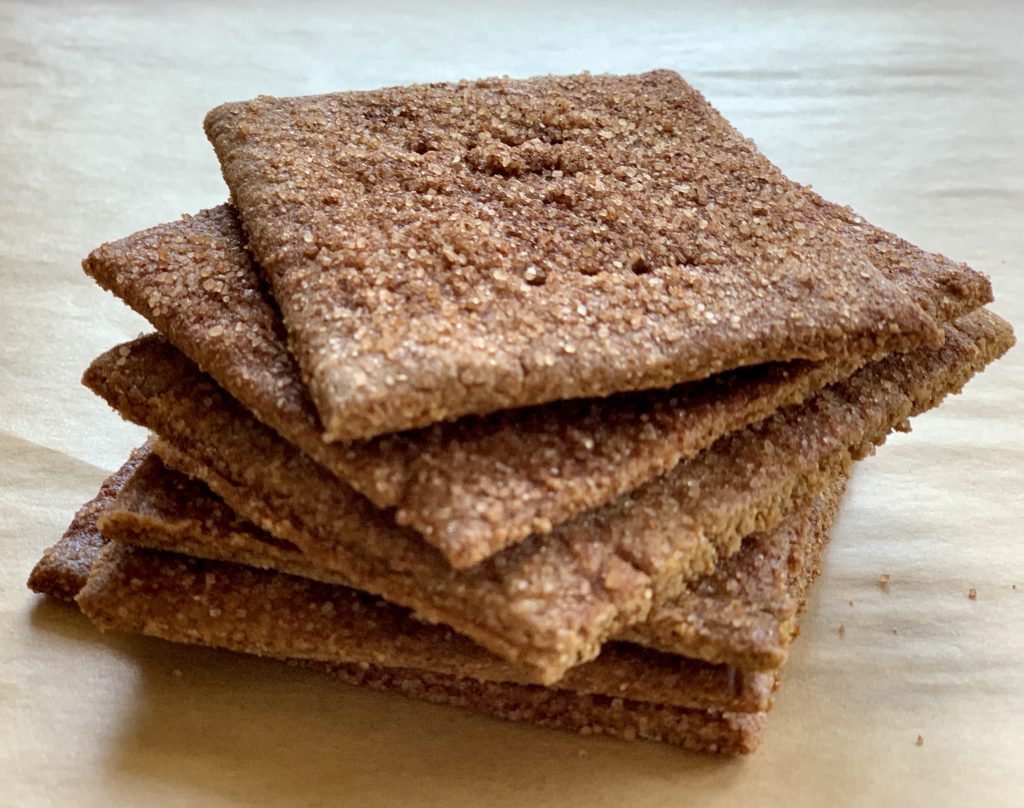 Homemade cinnamon sugar vegan graham crackers
