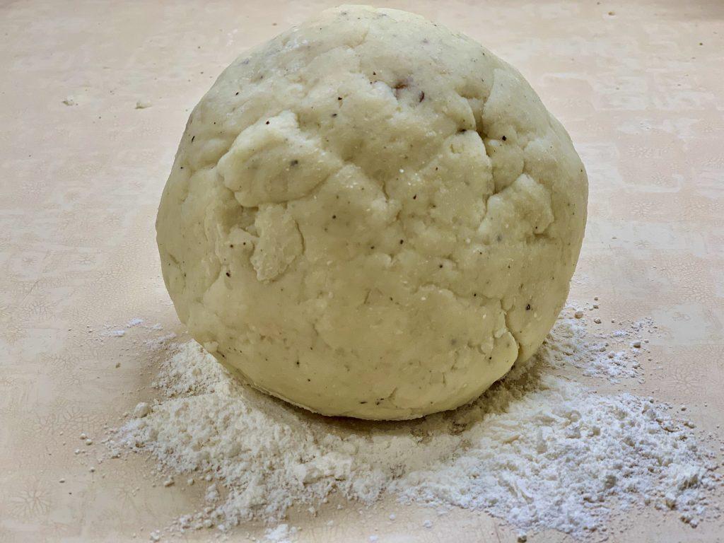 Ball of gnocchi dough