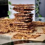 Oven-Baked Whole Golden Flaxseed Crackers a.k.a. Flackers Paleo Low carb Sun-dried tomato