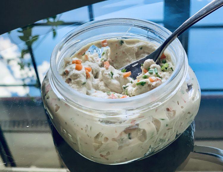 Vegan Garden Veggie Cream Cheese in a small jar
