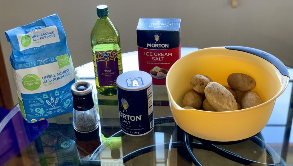 Ingredients for Homemade Vegan Gnocchi
