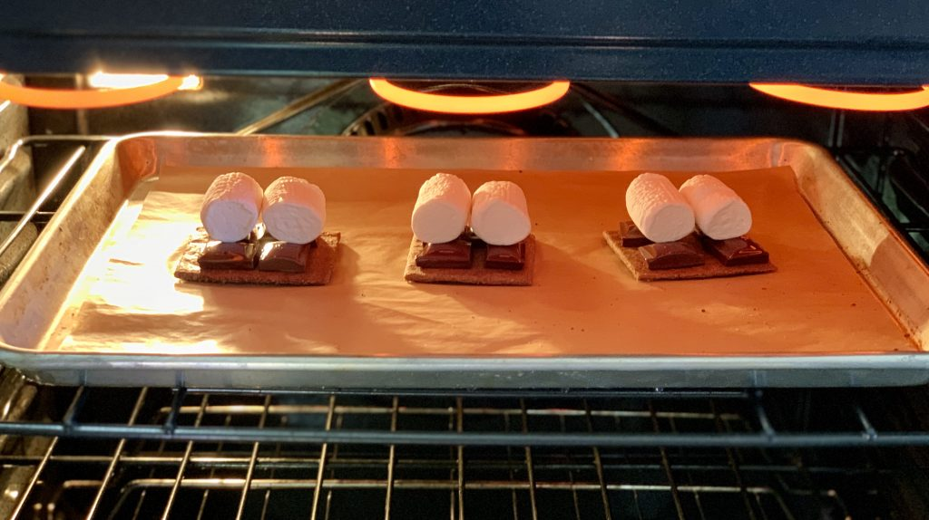 Vegan S'mores in the oven