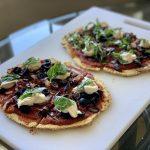Personal Pizzas with Quinoa Flatbread Pizza Crust