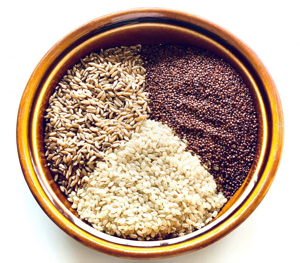 Farro, Red quinoa & Brown rice for Instant Pot Ancient Grains