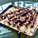 Miso Eggplant & Red Onion Skewers