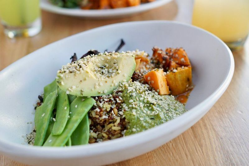 True Food Kitchen Ancient Grains bowl with quinoa, brown rice, farro, miso-yams, cilantro pesto and more. - Original Credit: Courtesy- Original Source: SouthFlorida.com (True Food Kitchen / Courtesy)