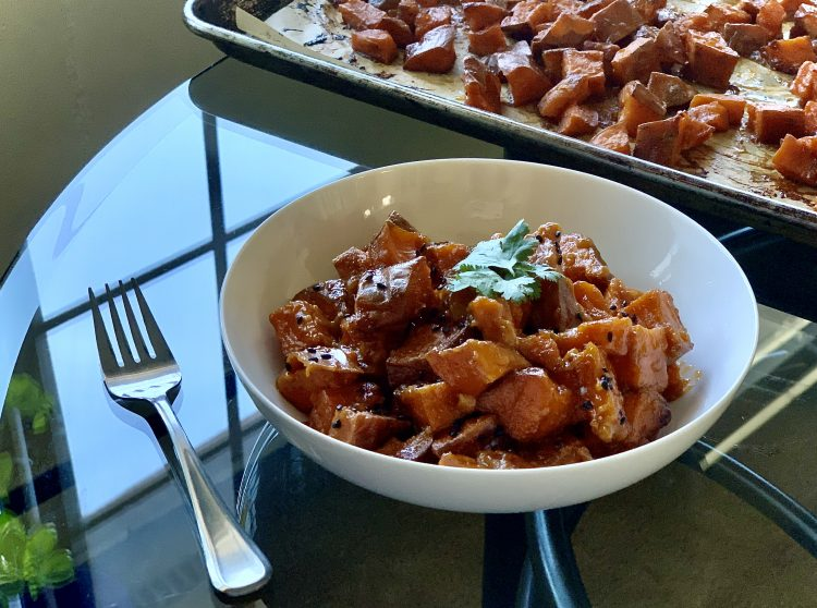 Miso Glazed Yams adapted from True Food Kitchen