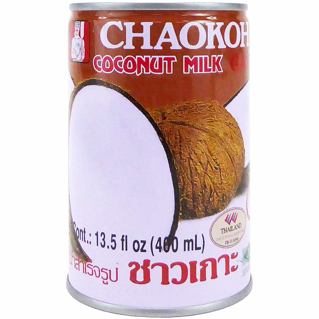 A can of Chaokoh Coconut Milk used in Curried Coconut Carrot Soup