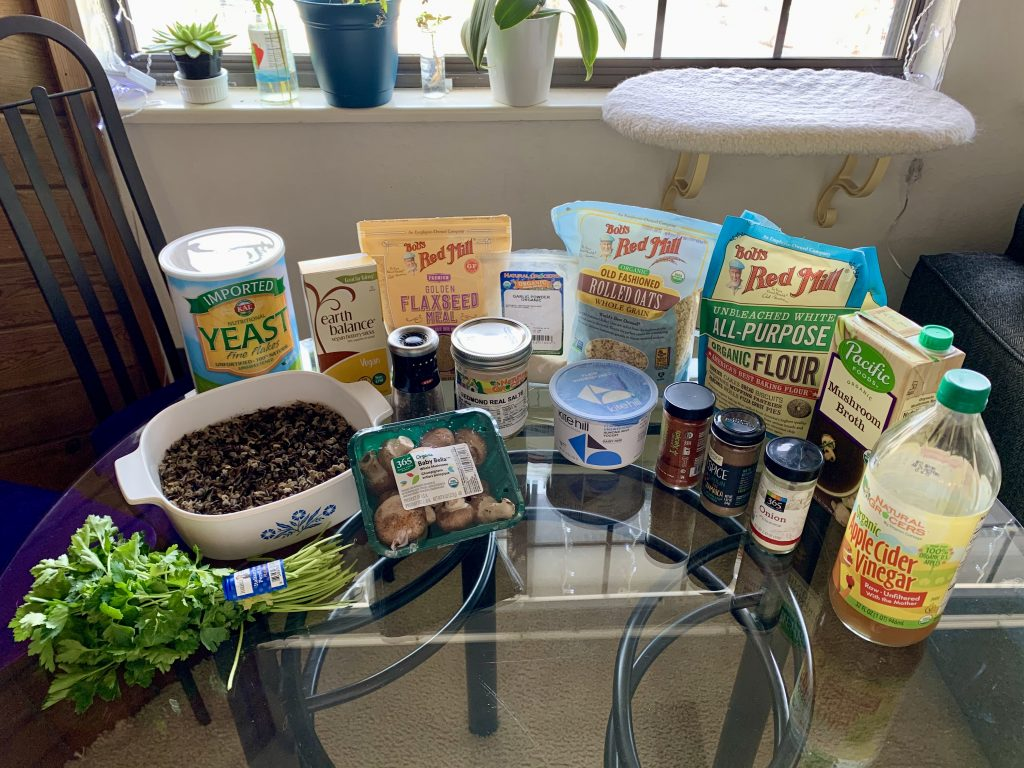 Ingredients for Vegan Swedish Meatless Balls