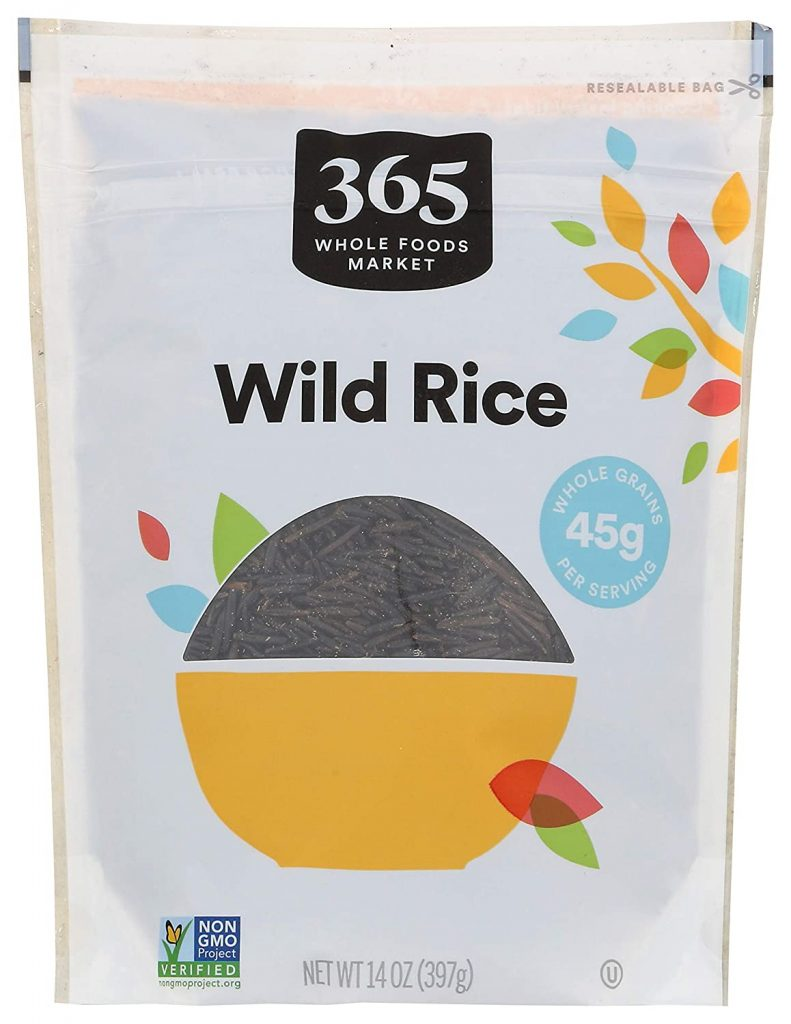 bag of whole foods Wild rice for vegan meatless balls