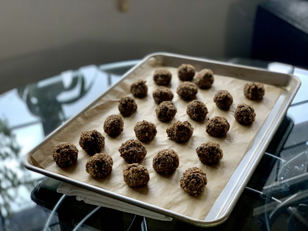 Baked Meatless Balls