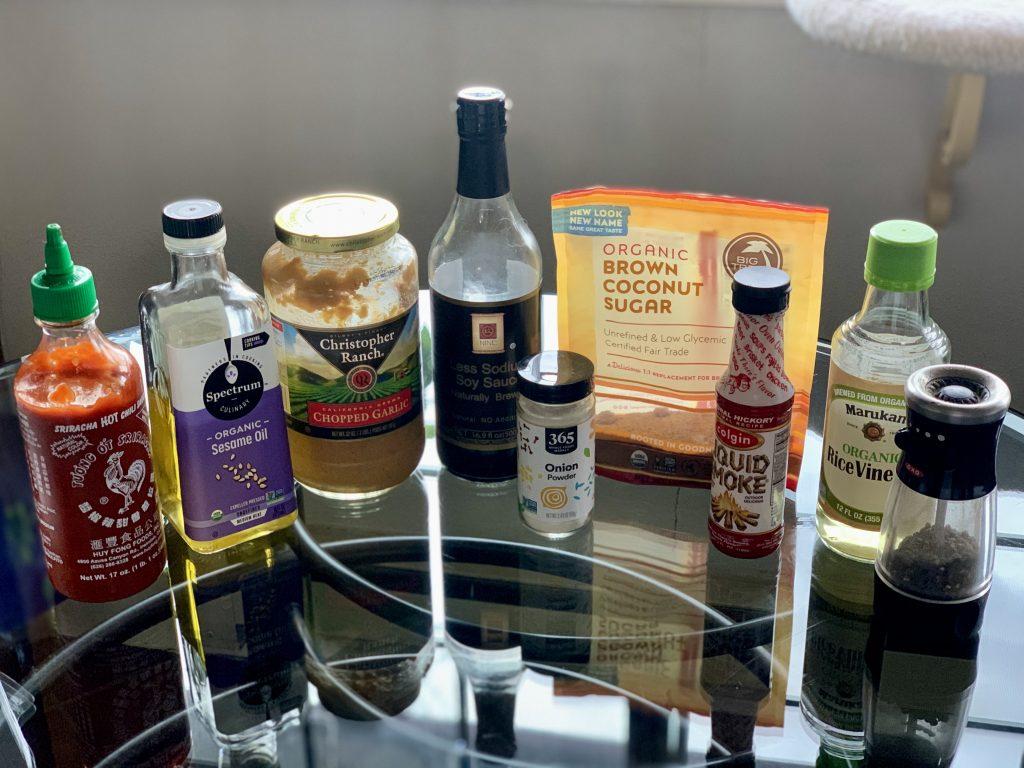 Sauce ingredients for Veggie Tofu Fried Rice