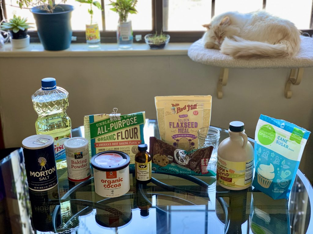 Ingredients for Small-Batch High-Altitude Vegan Brownies