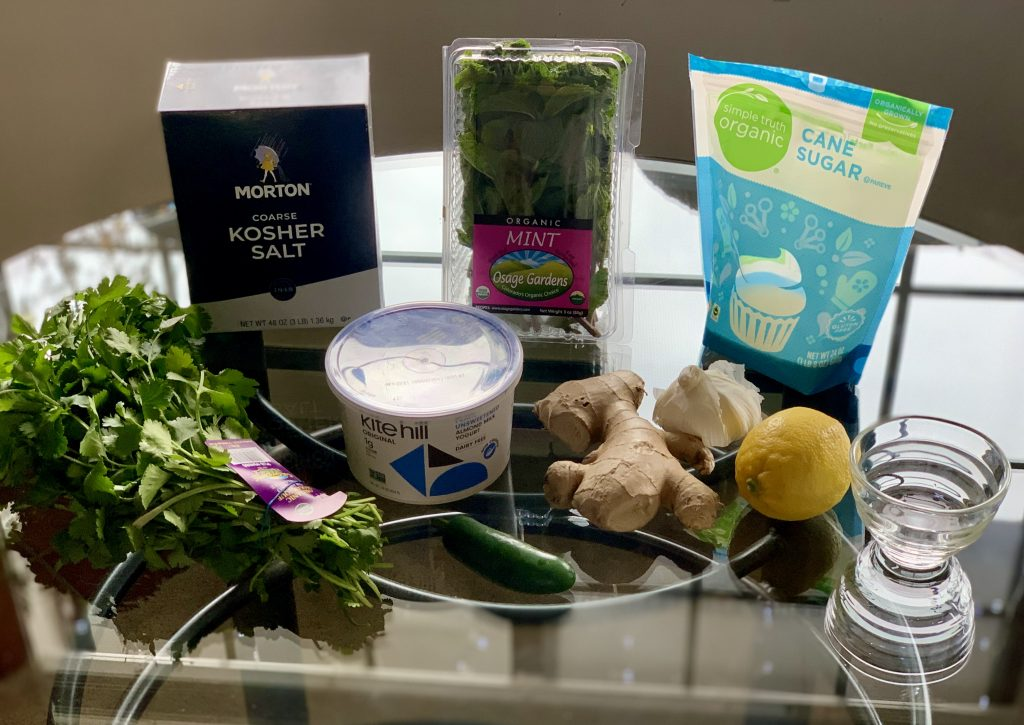 Ingredients for Mint Cilantro Chutney (Hari Chutney)