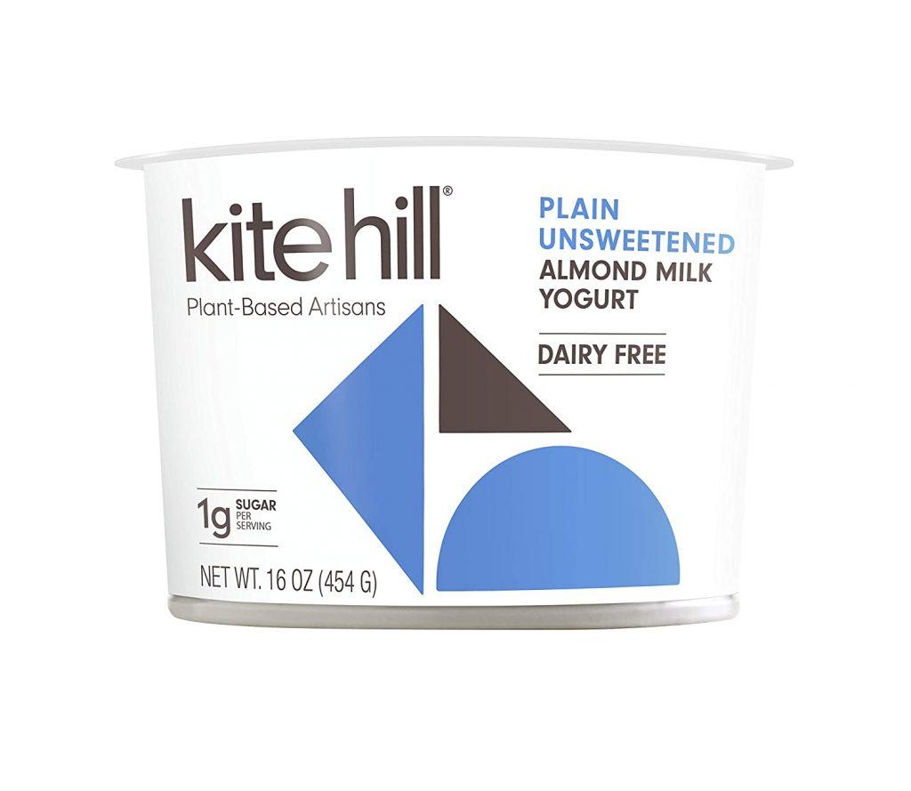 Kite Hill Plain Unsweetened Almond Milk Yogurt used in Vegan Mint Cilantro Chutney (Hari Chutney)