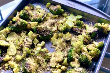 Roasted Broccoli with Vegan Garlic Parm