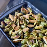 Marinated Oven-Roasted Brussels Sprouts