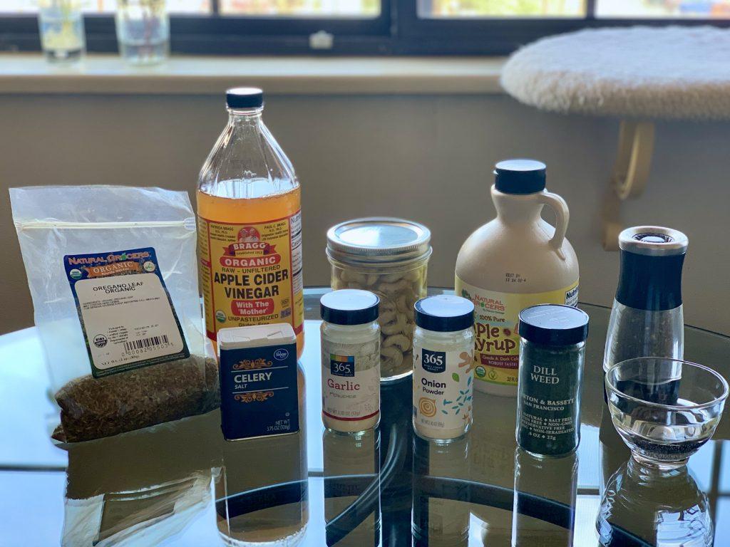 Ingredients for Rich Creamy Vegan Ranch Dressing