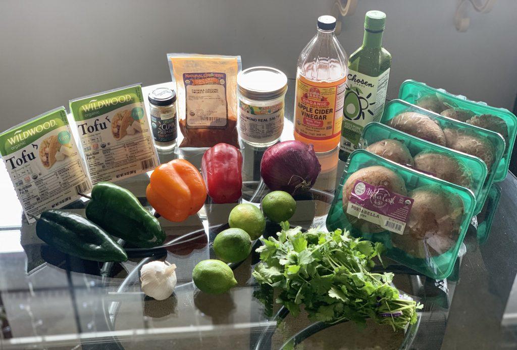 Ingredients for Vegan Marinated Meal-Prep Kebobs