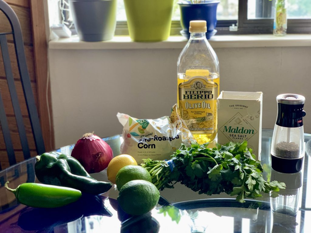 Ingredients for Chipotle-Style Corn Salsa