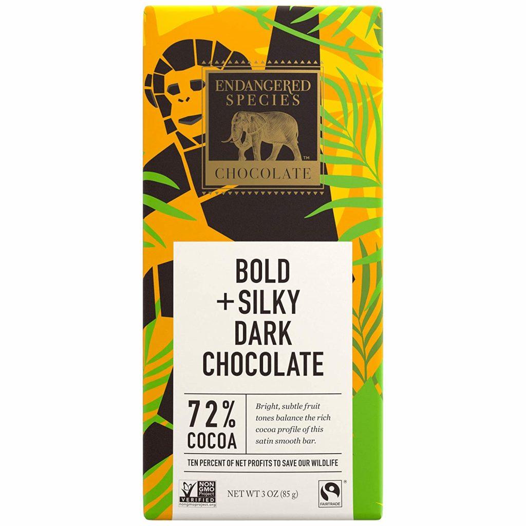 Chocolate bar used in Rich Salted Chocolate Vegan Tarts
