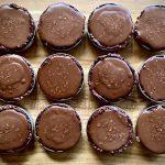Rich Salted Chocolate Vegan Tarts (made in jar lids)