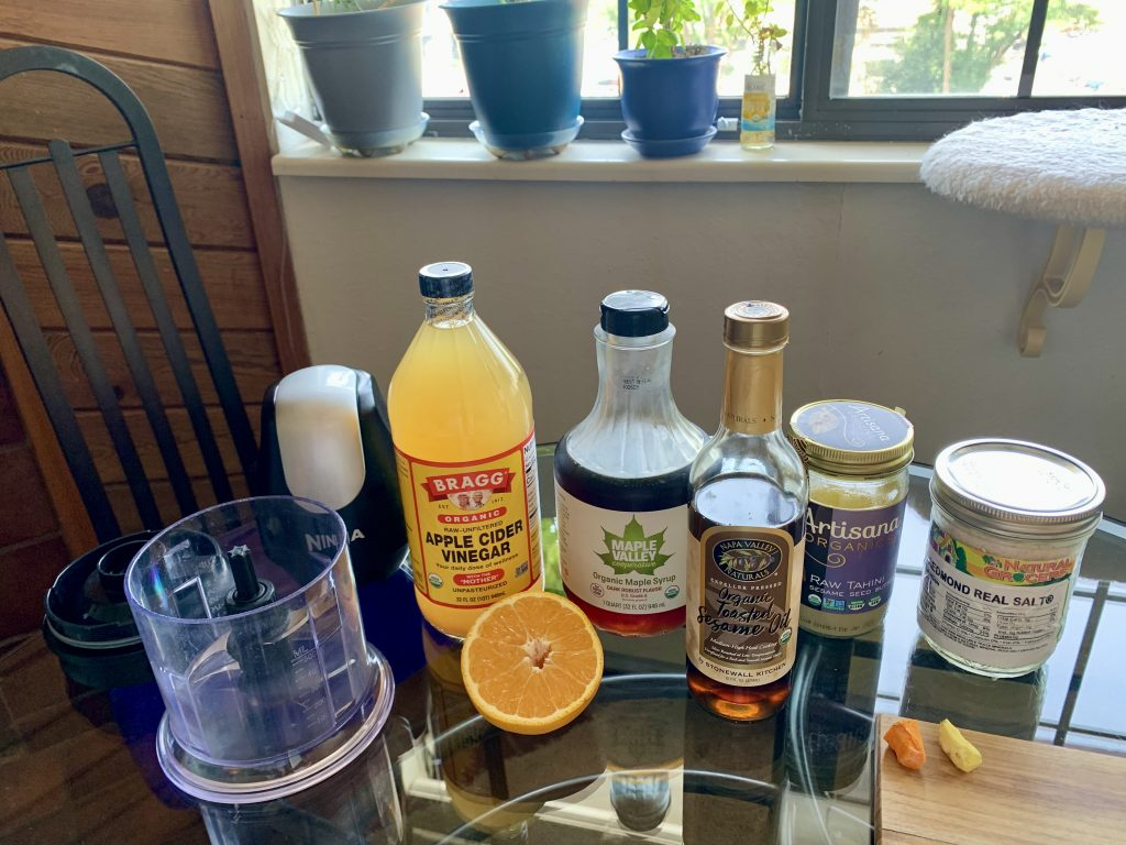 Orange Ginger Tahini Sauce