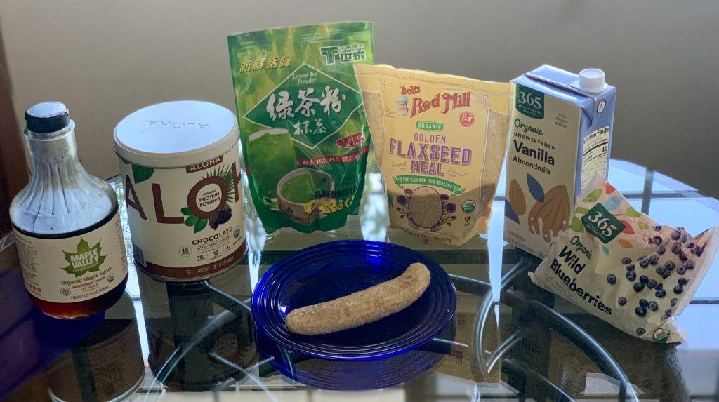 Ingredients for Amazing Blueberry-Banana Smoothie Bowl