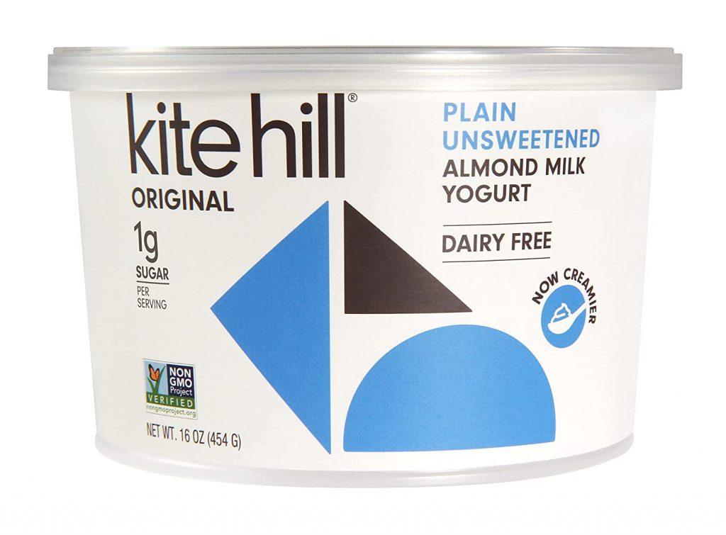 Kite Hill Almond Plain Unsweetened yogurt for making Easy 3-ingredient Vegan Yogurt Snack