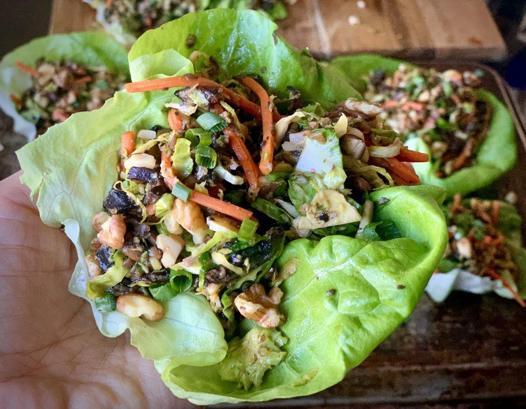 Vegan Mushroom Lettuce Cup adapted from Struggle Meals