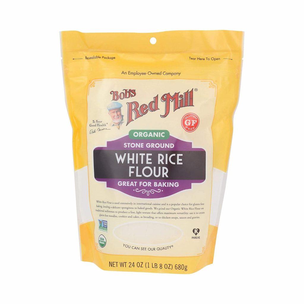 Bob's Red Mill Organic White Rice Flour for gluten-free flour blend
